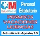 Permisos, Vacaciones y Licencias, agosto 2018